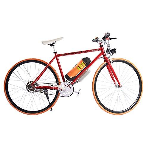 ELECTRIC Fixie Bike 350W 33MPH Alien Motor Wheels TM (RED/ORANGE/BLACK/ORANGE)