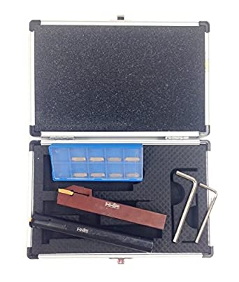 HHIP 2208-0003 14 Piece 5//8 Shank Right Hand External and Internal Grooving Tool Kit