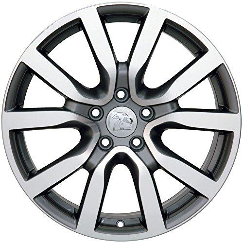 Partsynergy Replacement For Aluminum Alloy Wheel Rim 18 Inch Fits 2005-2017 Volkswagen Jetta 5-112mm 10 Spokes Gunmetal Machined - 2005 Wheel Offset