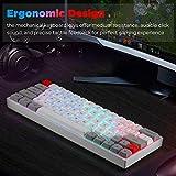 SK64 60% Mechanical Gaming Keyboard, 61 Keys Multi