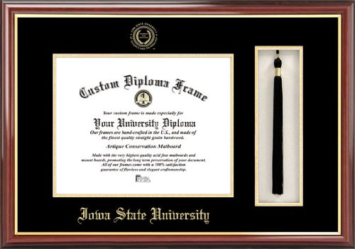 Campus Images Iowa State University 11w x 8.5h Tassel Box and Diploma Frame