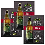 3x Bulldog B23 Steam Lager Yeast Craft Series Beer Yeast 10g for 20-25L