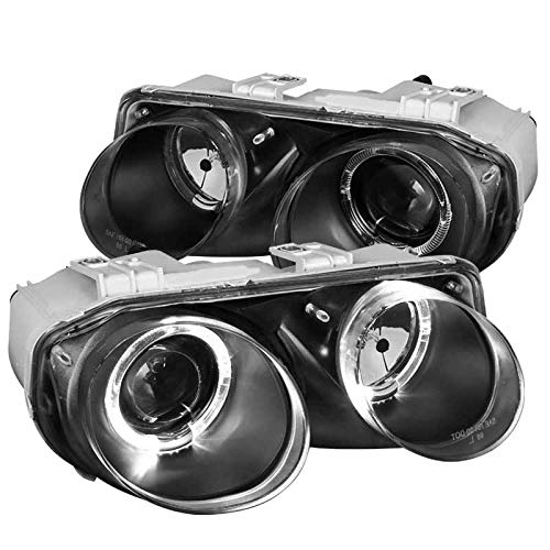 Acura Integra Replacement Parts - Acura Integra Replacement Halo Black Projector Headlights Headlamps Left+Right