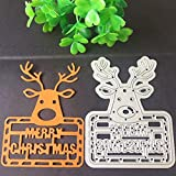 Metal Cutting Dies, NXDA Embossing Dies Stencil Template for DIY Scrapbook Album Paper Card Craft Decoration (Leaves)