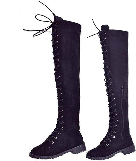 SED Stivali da donna con stivali alti stringati al ginocchio