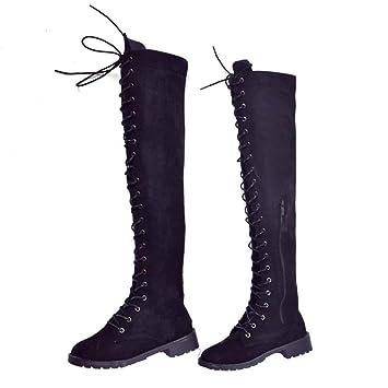 rivenditore all'ingrosso db25f 2041c SED Stivali da donna con stivali alti stringati al ginocchio ...