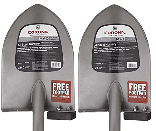 2-Pack of Corona AS90300 All-Steel Round Point Shovel by Corona