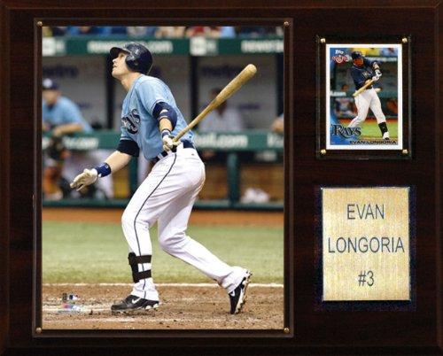 MLB Evan Longoria Tampa Bay Rays Player Plaque - Evan Longoria Mlb