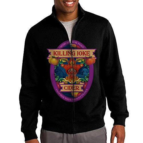 [NHJH Men's Killing Joke Band Zip-Front Hooded Sweatshirt Jackets Black Size M] (Welcome To The Black Parade Costume)