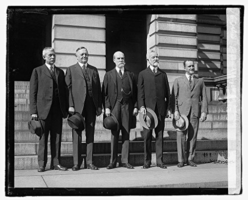 Vintography Reproduced 16 x 20 Photo of: L. to R.: Root, Underwood, Hughes, Lodge, Mills, 10/12/21 1921 National Photo Company