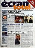ECRAN TOTAL [No 647] du 21/02/2007 - OFFRES D'EMPLOI - CETTE SEMAINE - IMAGE & CIE CONVIE DEUX CINEASTES A LA TELE - DIVX S'ORIENTE VERS LA VOD - DOMINIQUE MASSERAN - LES RESULTATS DE CAMPING SONT REVELATEURS DE LA VALEUR AJOUTEE DU DVD. - PLANS DE FINANCEMENT - DANSE AVEC LUI - 7 ANS - CESAR 2007 LE CHOIX DES EXPLOITANTS - RETROUVEZ LE JOURNAL DES CINEMAS - CESAR 2007 - LES EXPLOITANTS CHOISISSENT NE LE DIS A PERSONNE ET JE VAIS BIEN... PAR B. L. ET P. S. - JEAN RENO