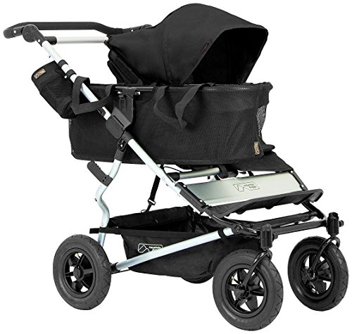 Mountain Buggy Joey Storage with Tote Bags for Duet Double Stroller, Black (Duet Tote)