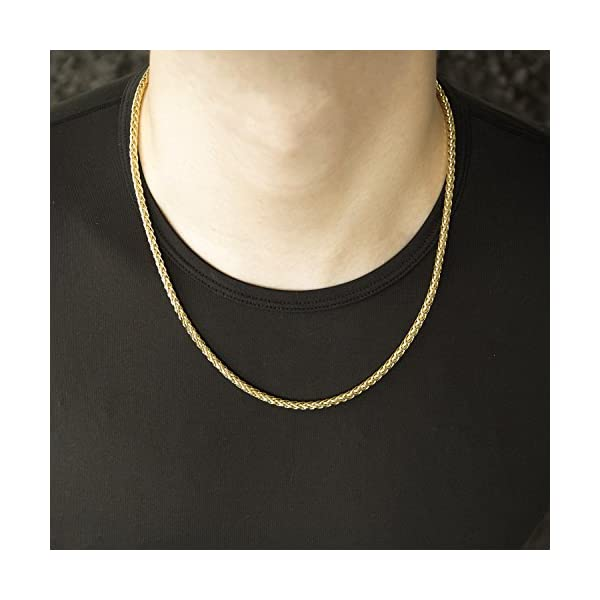 14k-Yellow-Gold-Hollow-Links-41mm-Diamond-Cut-Spiga-Round-Wheat-Chain-Necklace-20-22-24
