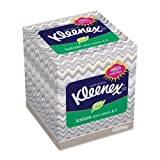 Wholesale CASE of 25 - Kimberly-Clark Kleenex Soothing Lotion Tissue-Facial Tissue, Lotion, Upright, 75SH/BX, White by KIM