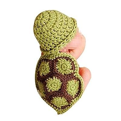 Cute Turtle style bébé props image de nouveau-né crochet Beanie chapeau bébé  vêtements ( cff1c78350a