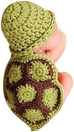 Newin Star Disfraz de Ganchillo de Linda Tortuga,Atrezzo fotografia,Ropa de bebé Hecha a Mano,Regalo para Bebé recién Nacido