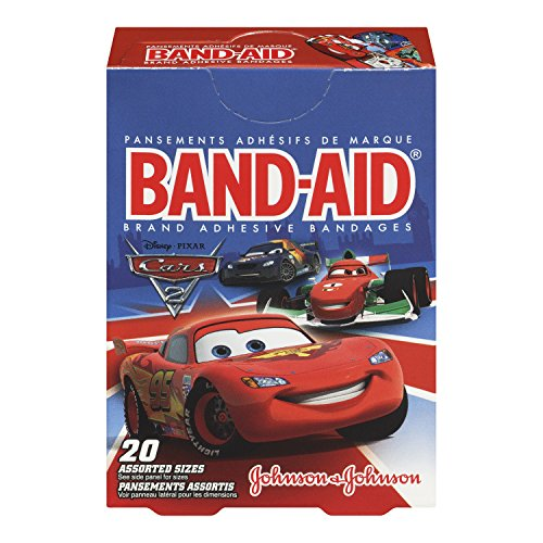 Band-Aid Brand Adhesive Bandages, Cars, 20 Count  (Pack of 6)