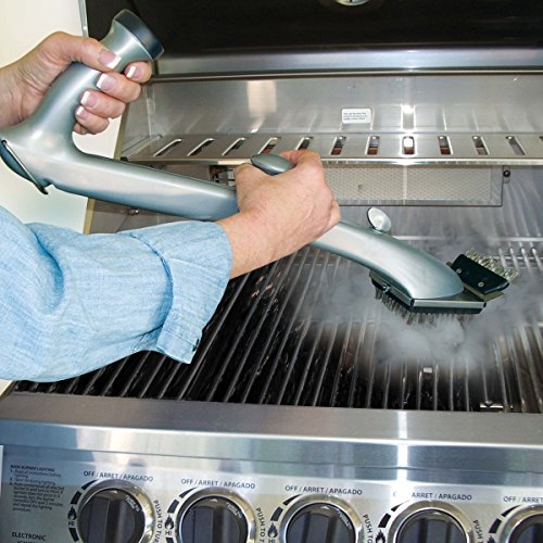 Grill Daddy Pro Grill Brush - Cleans BBQ Easily with the Power of Steam without Harmful Chemical Solutions - For Use on All Stainless Steel, Iron & Porcelain Barbecue Grates