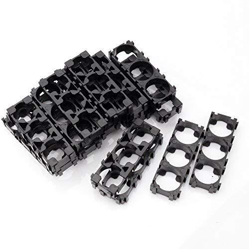 YEHAM 40pcs 18650 Lithium Battery Triple Holder Bracket for DIY Battery (Battery Holder Assembly)