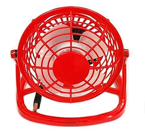 Nuevo Rojo Silencioso USB Mini refrigerador ventilador de refrigeración de ordenador portátil portátil ventilador de mesa: Amazon.es: Electrónica