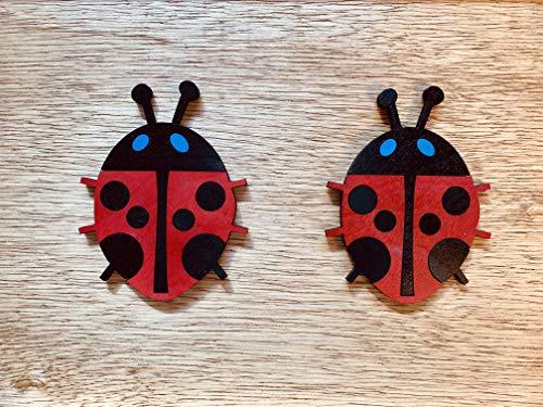 - Framed Children's Wood Cut Lady Bug Bird Picture Art Nursery Playroom Gift Kids Wooden Frame