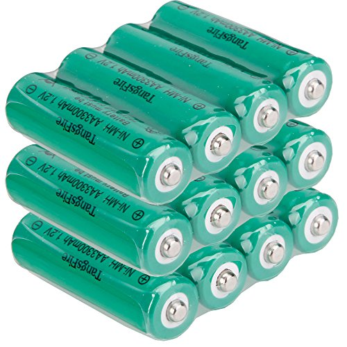 TangsFire AA 1.2V Rechargeable 3300mAH Ni-MH Batteries (12 Pack)