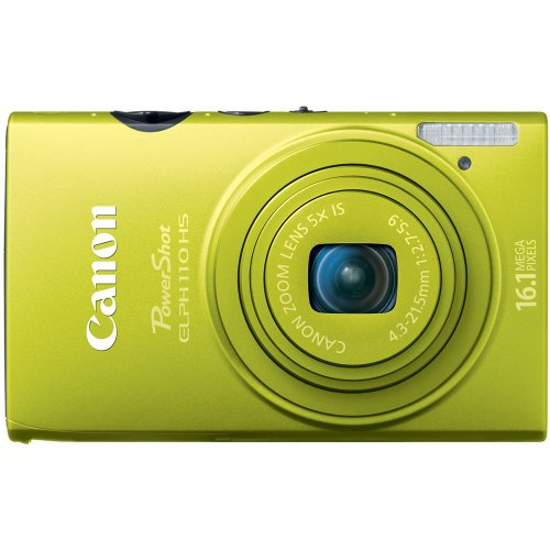Canon PowerShot ELPH 110 HS 16.1 MP CMOS Digital Camera with 5x Optical Image Stabilized Zoom 24mm Wide-Angle Lens and 1080p Full HD Video Recording (Green) (OLD MODEL)