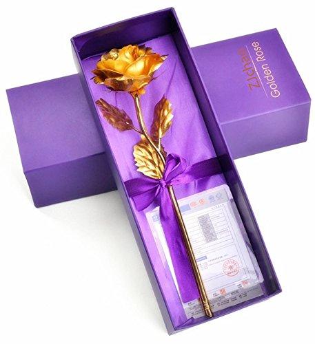 ZJchao 24k Gold Foil Rose