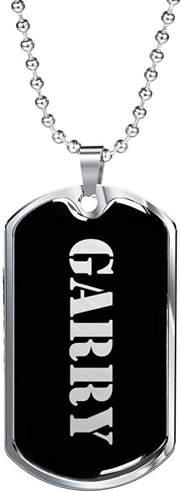 Luxury Dog Tag Necklace Personalized Name Gifts Garry v3