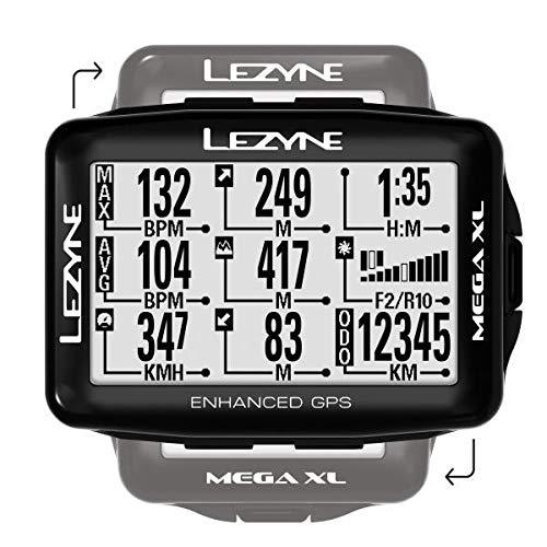 Lezyne Mega XL Bicicleta Negro rastreador GPS Monocromo 6,86 cm 33,3 d/ía 35,3 x 58,8 mm Rastreadores GPS 2.7 s 240 x 400 Pixeles , Recargable
