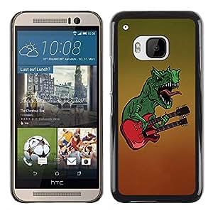 TECHCASE**Cubierta de la caja de protección la piel dura para el ** HTC One M9 ** Dinosaur Rock Music Guitar Monster Art
