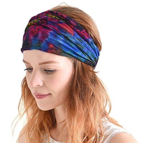 Casualbox Tie-Dye Headband Bandana Boho Hippie Retro Flower psychedelic 60