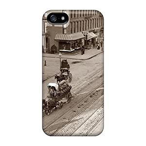 Durable Fantastic Turn Of The Century City Scene Back Case/cover For Iphone 5/5s