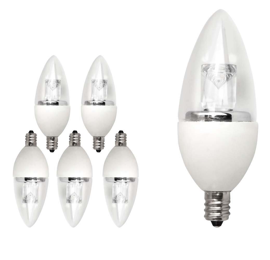Tcp 25 Watt Equivalent Led Decorative Torpedo Light Bulbs Small Candelabra Based Energy Star