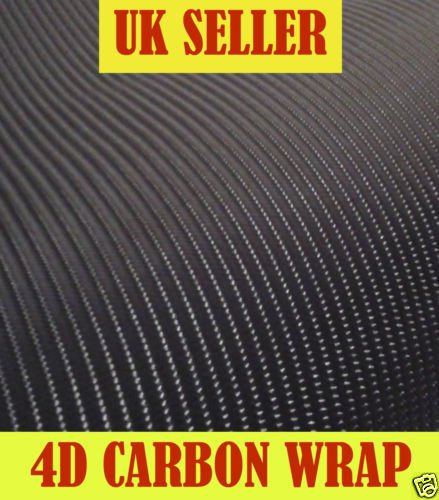 Zoom Trading Uk 2M X 750Mm Roll 4D Carbon Fibre Vinyl Bubble Free Wrap Sticky Back Plastic