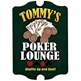 Personalized Poker Lounge Gambling/Cards Game Room Wood Man Cave Sign, Home Bar, Room Décor, Game Room Décor, Wall Art