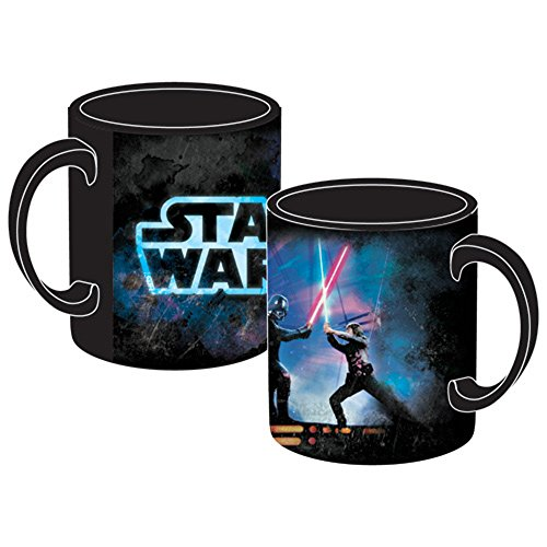 Licensed Disney 14oz Coffee Mug Star Wars Saber Fight Luke Skywalker Darth Vader for $<!--$15.30-->