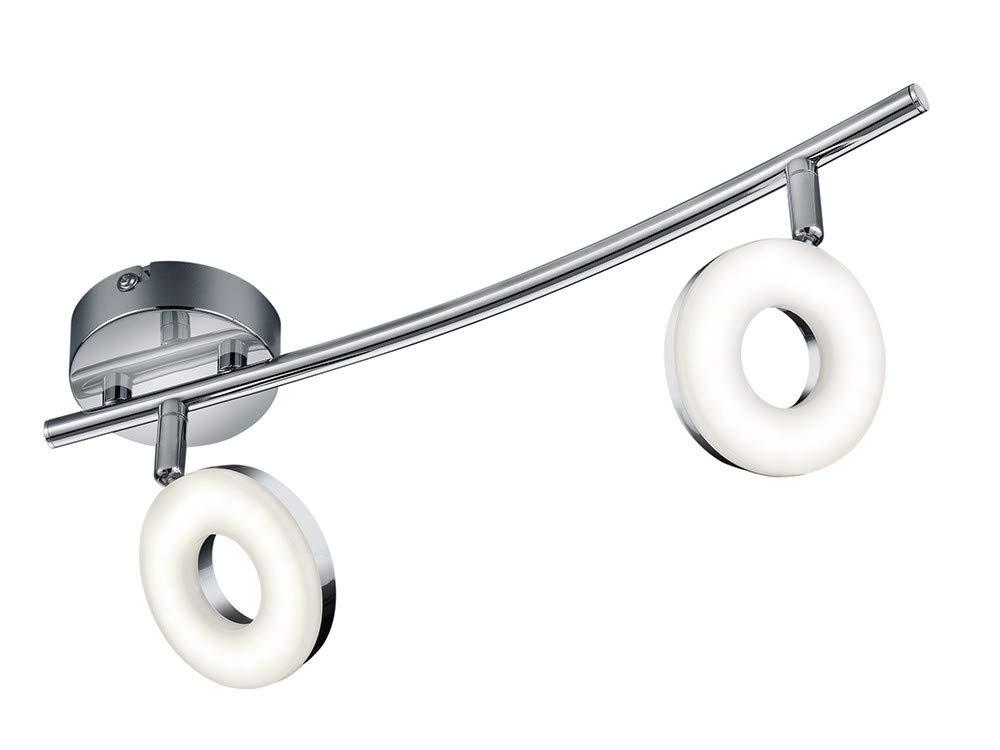 Reality Leuchten Deckenleuchte/Deckenrondell, 3x 4W SMD-LED inklusive, Durchmesser 25 cm, Höhe 18,5 cm, chrom R82413906 [Energieklasse A+] Höhe 18