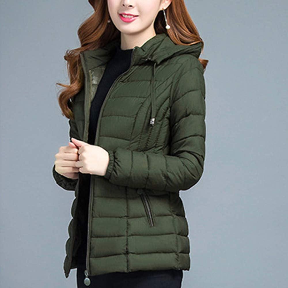 DAZISEN Womens Winter Coat Fashion Casual Hooded Jacket Lighweight Plus Sizes