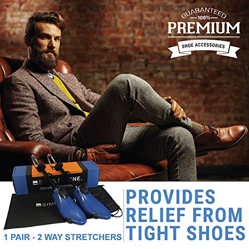 Premium Pair Shoe Stretchers 2 Way Stretcher Men Women Wide Feet Stretch Medium by Simple Shine (Image #2)