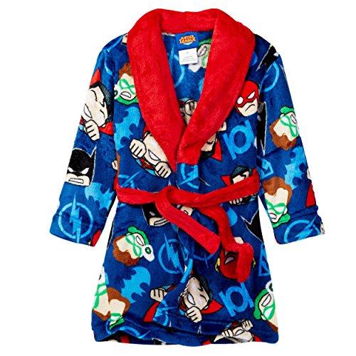 Superhero Robes (Justice League Boys Fleece Bathrobe (3T, Blue/Red))