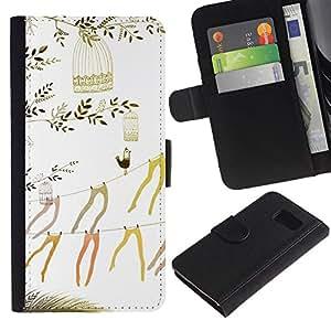 All Phone Most Case / Oferta Especial Cáscara Funda de cuero Monedero Cubierta de proteccion Caso / Wallet Case for Sony Xperia Z3 Compact // Art Beautiful Stockings Minimalist