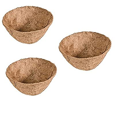 """Rocky Mountain Goods Hanging basket Liner Replacement - Extra thick coco lasts longer and requires less watering - 100% natural coconut planter basket liner for flowers / vegetables (3 Pack, 14""""): Garden & Outdoor"""