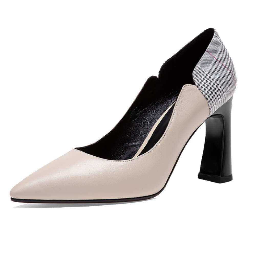 ZPEDY Chaussures Confortables, pour Femmes, Pointues, Talons Hauts, Talons Confortables, 19981 élégantes, Polyvalentes, élégantes Beige 67fceee - fast-weightloss-diet.space