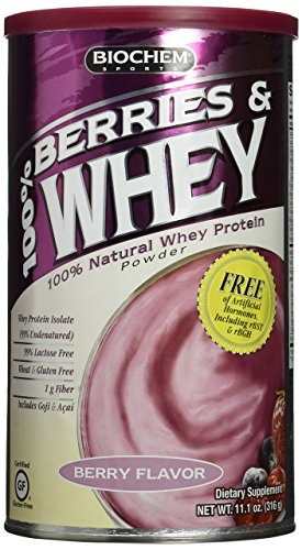 Biochem 100  Berries And Whey Powder  Berry Flavor   11 1 Ounce