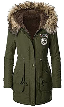 American Trend Women's Faux Fur Lined Hooded Outdoor