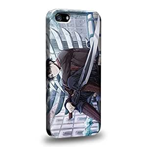 Case88 Premium Designs Attack on Titans Levi Protective Snap-on Hard Back Case Cover for Apple iPhone 5 5s by icecream design