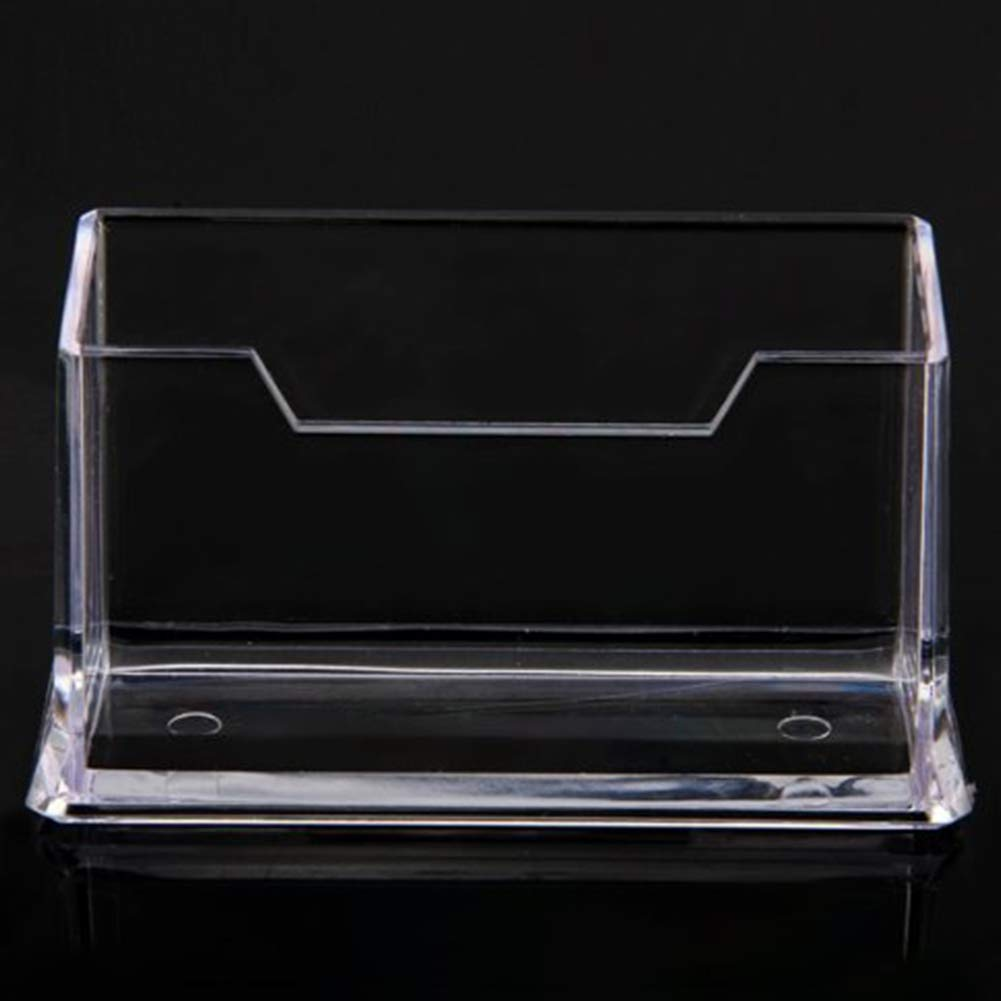 Business Card Case Holder Acrylic Transparent 1 Tier Business Card Box Plastic Business Card Stand Office Supplies
