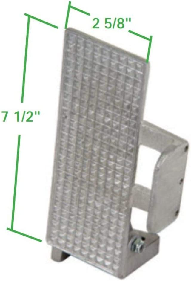 For Sand Buggy EMPI 16-2158-0 Angled Throttle Pedal Rail Off-Road Unpolished