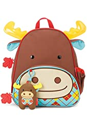 Skip Hop Zoo Backpack and Plush Set, Moose